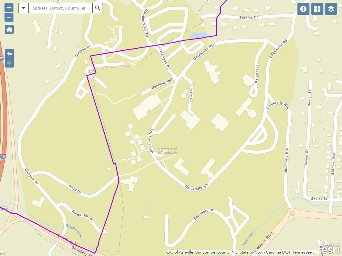 Two UNC Asheville Dorms Bisected by Gerrymandered District Lines